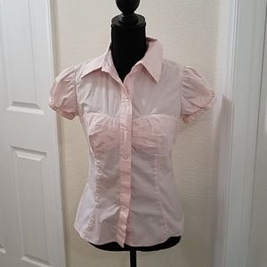 Moda Int'l bow-like front button down blouse🌸